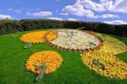 Ceasul din flori, Grădina Engleză, Geneva